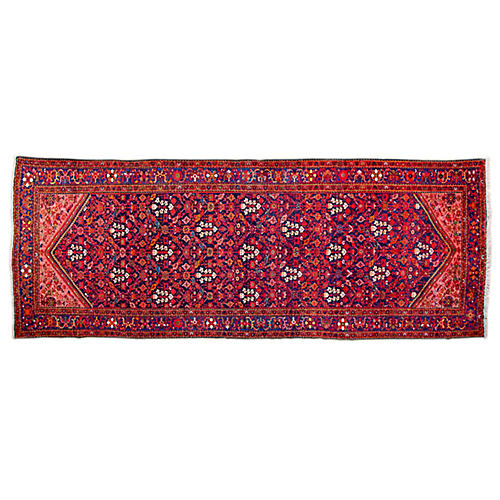 "6'6""x16'4"" Persian Malao Runner, Red/Blue"