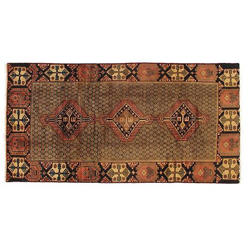 "4'8""x9'2"" Soraya Handwoven Rug, Olive/Rust"
