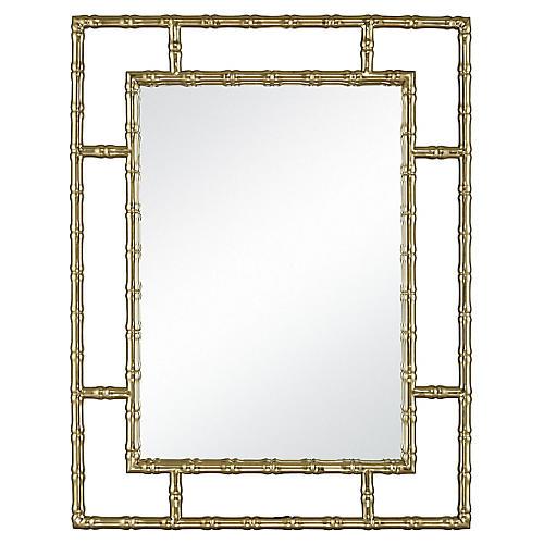 Biko Wall Mirror, Gold