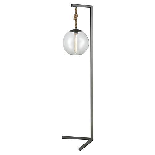 Mitra Floor Lamp, Pewter