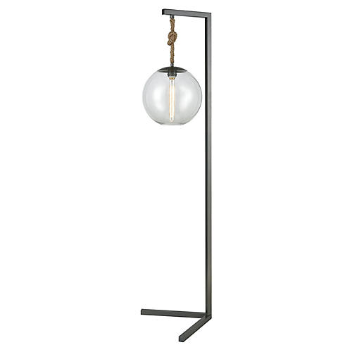 Mitra Floor Lamp, Pewter