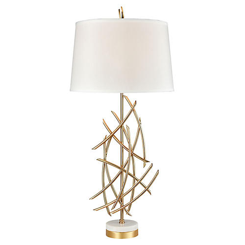Chaikin Table Lamp, Gold Plate