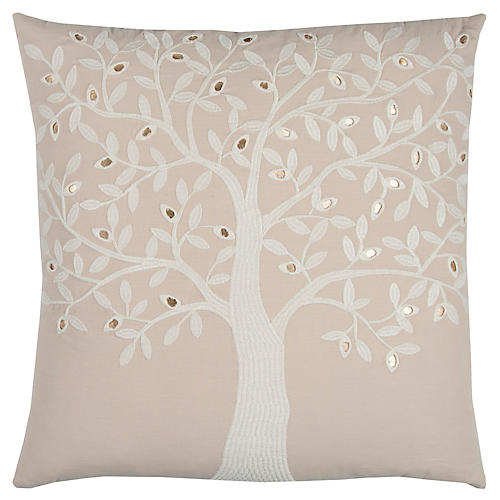 Cole 20x20 Holiday Pillow, Beige