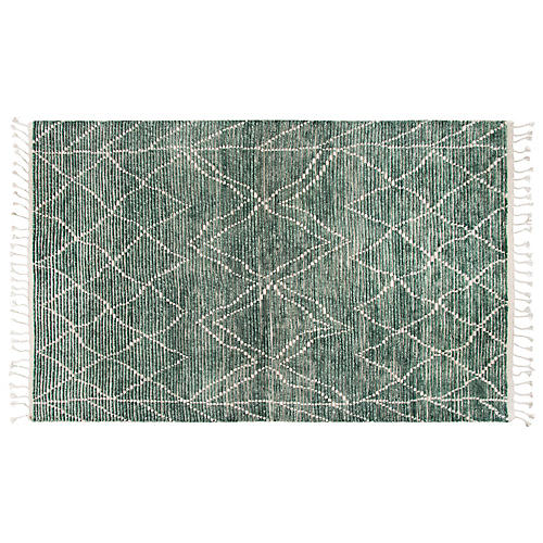 Ines Hand-Knotted Rug, Green