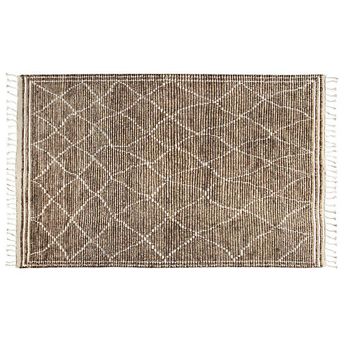 Rae Hand-Knotted Rug, Brown