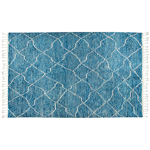Nora Hand-Knotted Rug, Blue