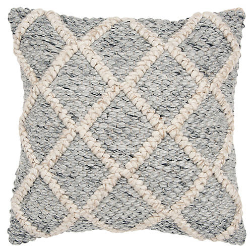 Holly 20x20 Pillow, Gray