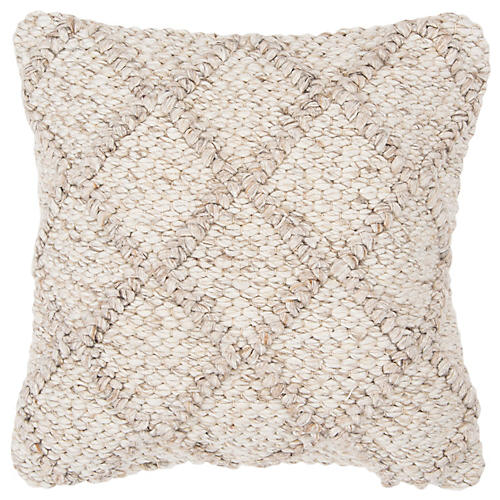 Holly 20x20 Pillow, Tan