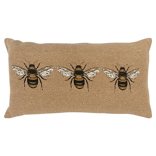 Honey 26x14 Lumbar Pillow, Beige