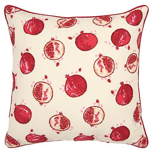 Pomegranite 20x20 Pillow, Red