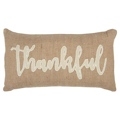 Thankful 14x20 Pillow, Natural