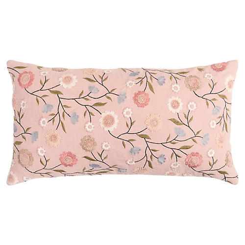 Piper 26x14 Lumbar Pillow, Pink