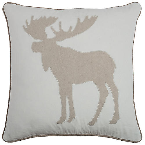 Victor 20x20 Holiday Pillow, Cream/Natural