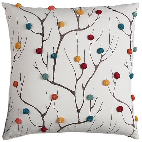 Jacob 20x20 Holiday Pillow, Natural/Multi