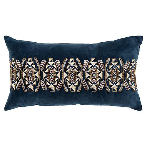 Wynter 14x26 Pillow, Blue Velvet