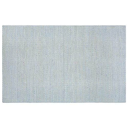 Lind Flat-Weave Rug, Blue