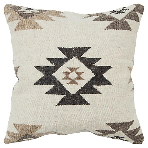 Rhea 17x17 Pillow, Natural/Desert
