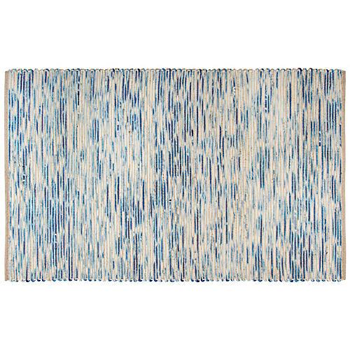 Trende Flat-Weave Rug, Blue
