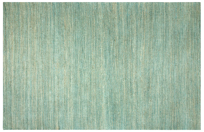Camilla Flat-Weave Rug, Green