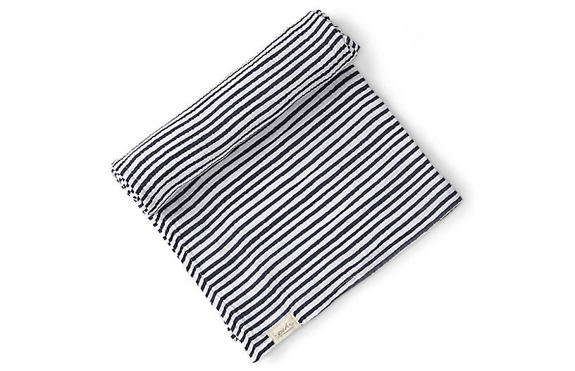 Stripes Away Cotton Swaddle, Ink