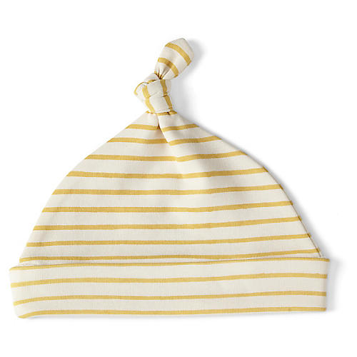 Stripes Away Knot Hat, Marigold
