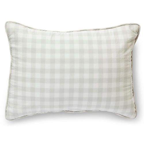 CheckMate Nursery Pillow, Fog