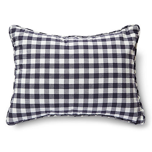 CheckMate Nursery Pillow, Ink
