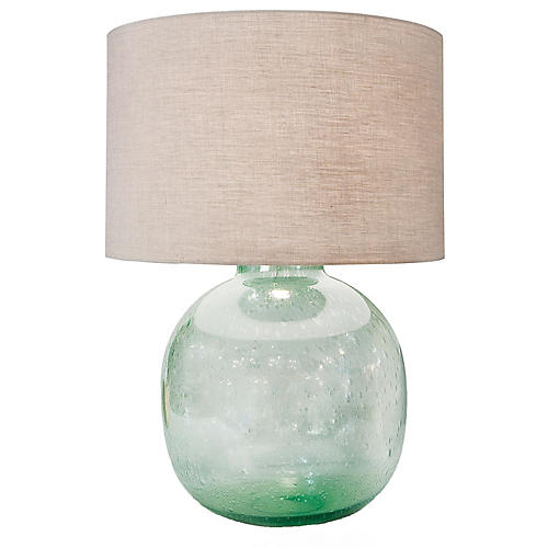 Seeded Vessel Table Lamp, Light Green