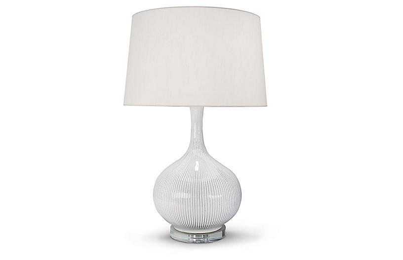 Ceramic Table Lamp, Ivory