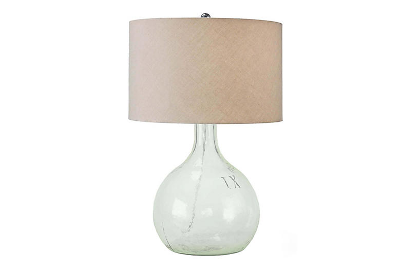 King Nine Recycled Glass Table Lamp