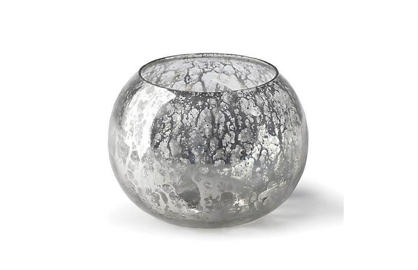 Votive Bowl, Antique Mercury