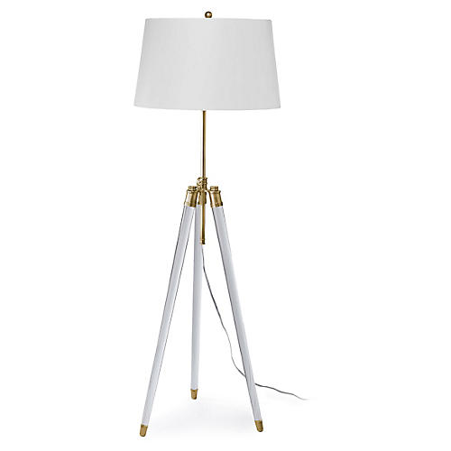 Brigitte Floor Lamp, Brass