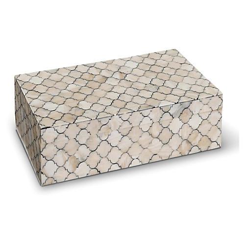 """12"""" Mosaic Quatrefoil Box, Multi"""