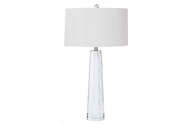 Tapered Hex Table Lamp
