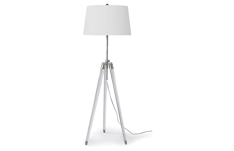 Brigitte Floor Lamp, Nickel