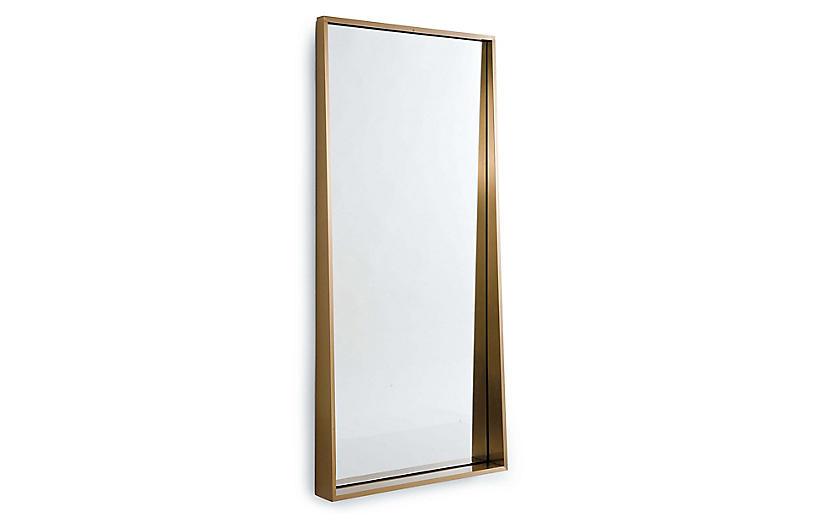 Gunner Floor Mirror, Gold