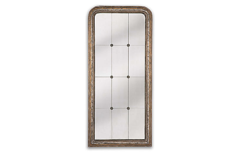 Florence Wall Mirror, Distressed Natural