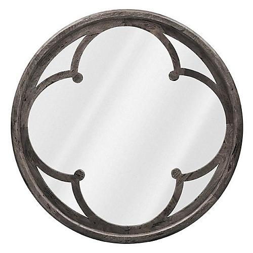 Raymond Quatrefoil Oversize Mirror, Gray