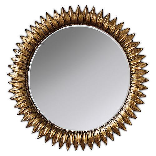 Sunflower Wall Mirror, Gold Leaf
