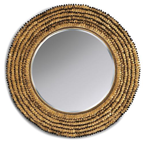 Petal Wall Mirror, Gold Leaf