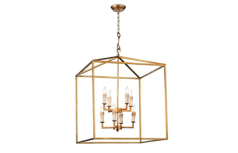 Cape Lantern, Antiqued Gold