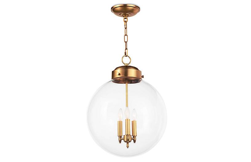 Globe Pendant, Natural Brass