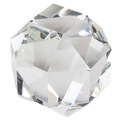 """5"""" Small Crystal Octahedron, Clear"""