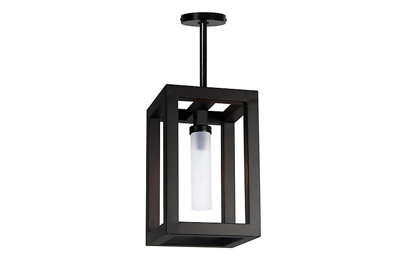Coastal Living Montecito Small Outdoor Lantern, Black