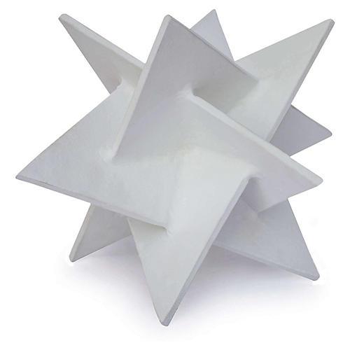 "9"" Origami Star Accent, White"