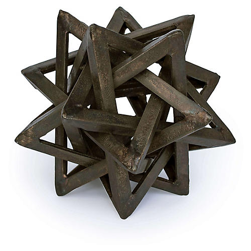 "8"" Entangled Star Accent, Bronze"