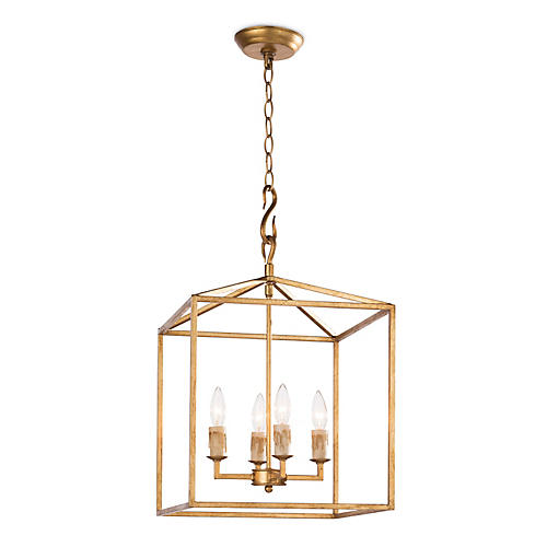 Cape Lantern, Antique Gold Leaf