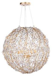 Set of Six Seashell Chandelier Lamp Shade Mini Clip on Shade