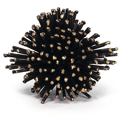 Sea Urchin Sculpture, Blackened Iron