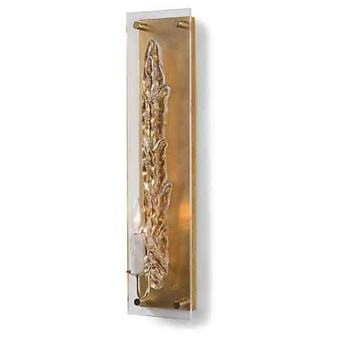 Olive Sconce, Gold/Clear